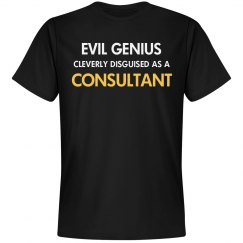 Evil genius cleverly disguised as a consultant