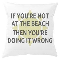 Beach Lover Pillow Cover