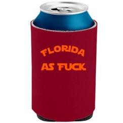 Florida as Fuck koozie