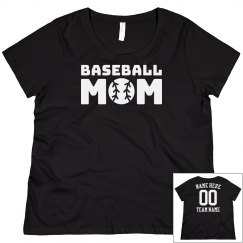 Customizable Baseball Mom
