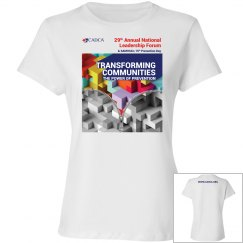 2019 National Leadership Forum T-Shirt Ladies- White