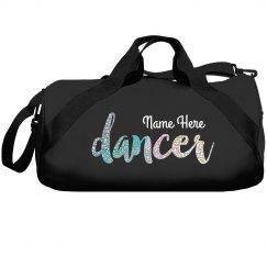 Custom Purple Glitter Dance Bag