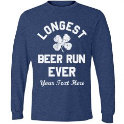 Longest Beer Run Funny St. Pat Race