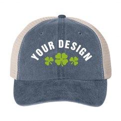 Custom Shamrock Design Hat