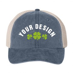 Custom Shamrock Design Hat