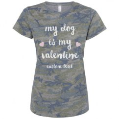 Ladies Relaxed Fit Camo Tee