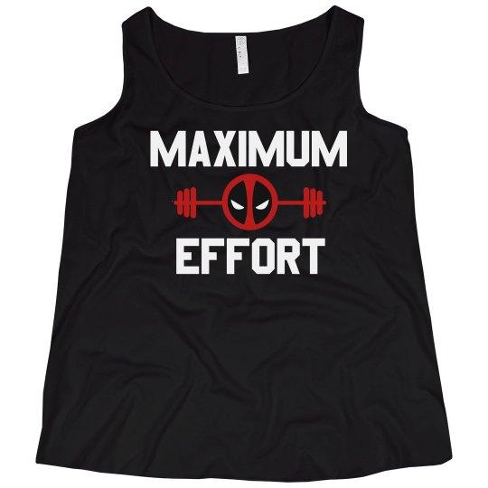 d987e400f Curvy Maximum Effort Ladies Curvy Plus Size Tank Top