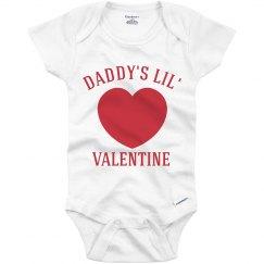 Daddy's Little Valentine Baby