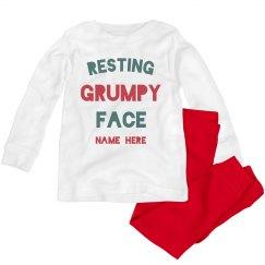 Resting Grumpy Face Custom Toddler PJs