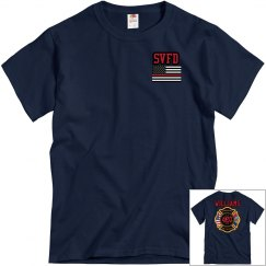 Fire Department Tee - Navy