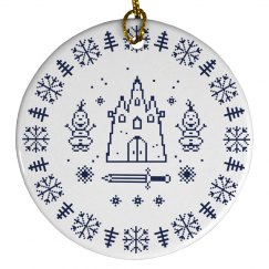 Cutest Arendelle Ice & Snow Christmas Tree Ornament