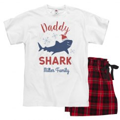 Daddy Shark Matching Custom Family Christmas Pajamas