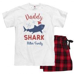 Daddy Shark Matching Custom Family Christmas Pajamas