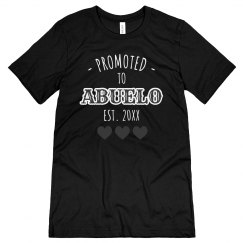 Custom Date Promoted To Abuelo Tee