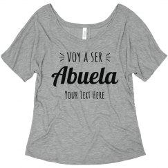 Voy A Ser Abuela Custom Flowy