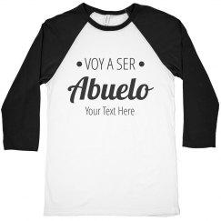 Custom Text Voy A Ser Abuelo Tee