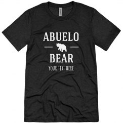 Custom Text Abuelo Bear Tee