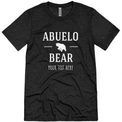 Custom Text Abuelo Bear Tee
