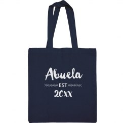 Custom Established Abuela Tote Bag