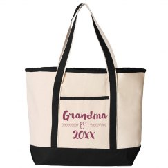 Custom Established Grandma Date Tote