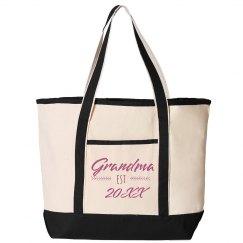 Custom Established Grandma Date Tote