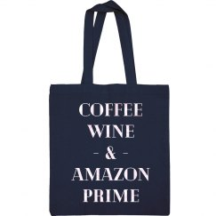 Coffee, Wine & Amazon Prime Tote