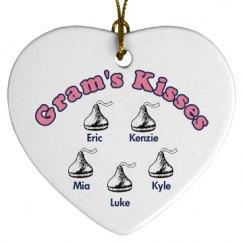 Gram's Kisses Ornament