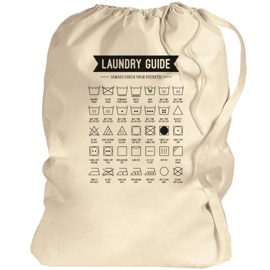 Laundry Symbol Guide College Gift
