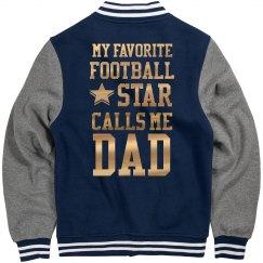 Metallic Football Dad Jacket