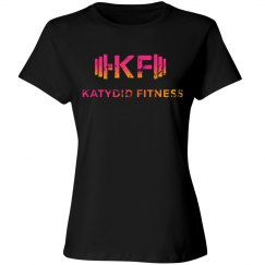 High Neck Katydid Fitness Distressed T
