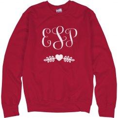 Valentine's Day Monogram Sweatshirt