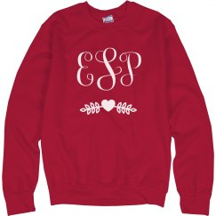 Valentine's Day Monogram Sweatshirt