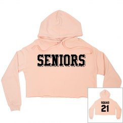 Custom Seniors Graduation Crop Hoodie