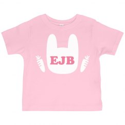 Custom Initials Easter Toddler Tee