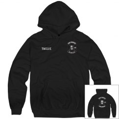 Hoodie with name and worldwide on back