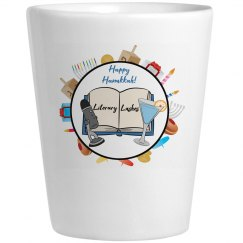 Literary Lushes Hanukkah Edition Ceramic Shot Glass