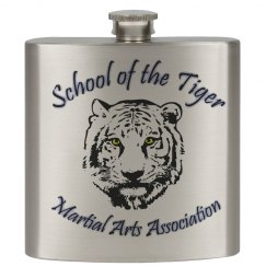 7oz Stainless Steel Flask with Logo
