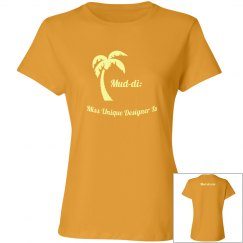 Palm Tree Fitted Tee