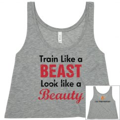 Beauty and Beast - Female Crop Top