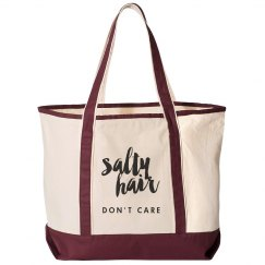 Salty Hair Don't Care Beach Bag