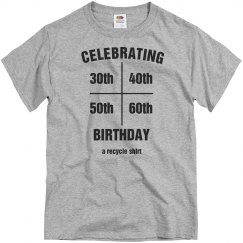 Multi year birthday shirt
