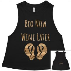 Box Now Wine Later Metallic Gold