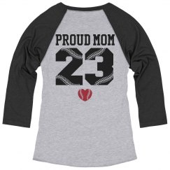 Custom Softball Mom Shirts with Kid's Number