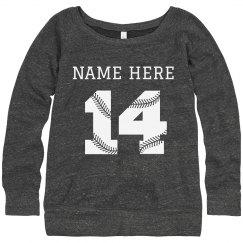 Custom Name Number Baseball Fan
