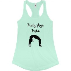 Truly Yoga Tribe Racerback Tank (Mint green)