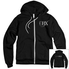 Black EBX Zip-Up Hoodie