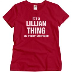 It's a Lillian thing