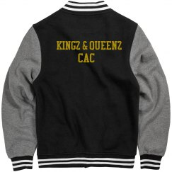 Kingz & Queenz CAC Letterman Jacket Rear Only