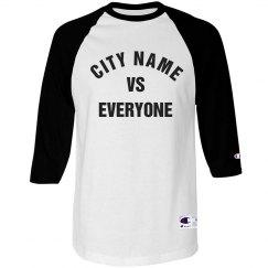 City Vs Everyone Raglan