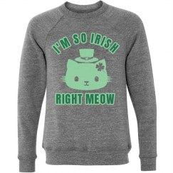Irish Right Meow Glitter Bling
